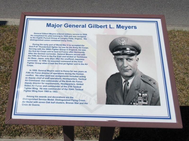 Major General Gilbert L. Meyers Marker image. Click for full size.