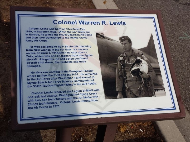 Colonel Warren R. Lewis Marker image. Click for full size.