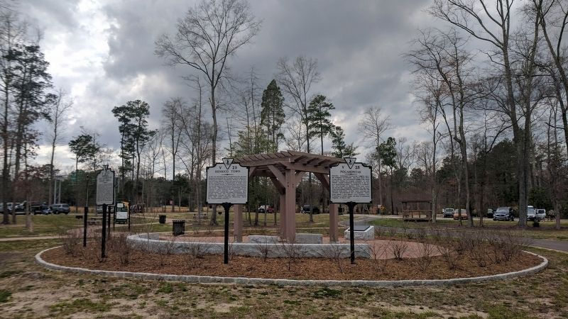Henrico Town Marker (relocated) image. Click for full size.