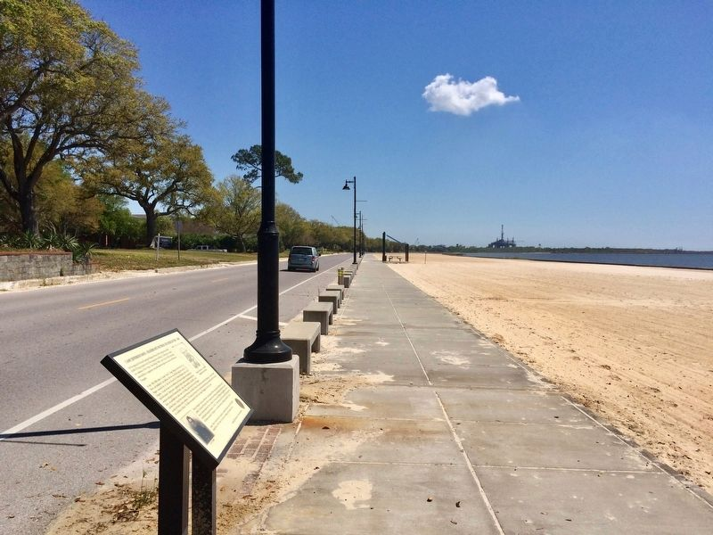 View east along Beach Boulevard, area of former camp. image. Click for full size.