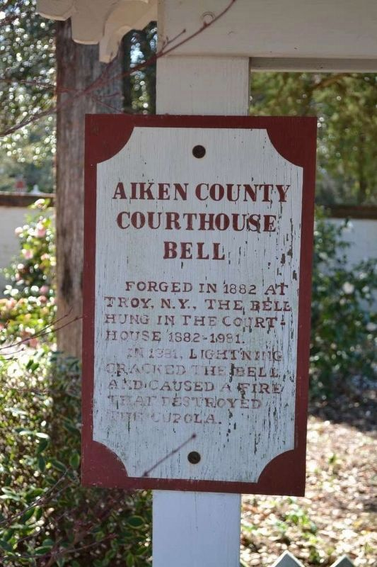Aiken County Courthouse Bell Marker image. Click for full size.