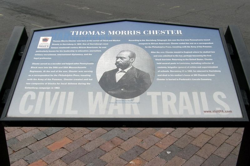 Thomas Morris Chester Marker image. Click for full size.