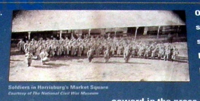 Market Square During The Civil War Marker image. Click for full size.