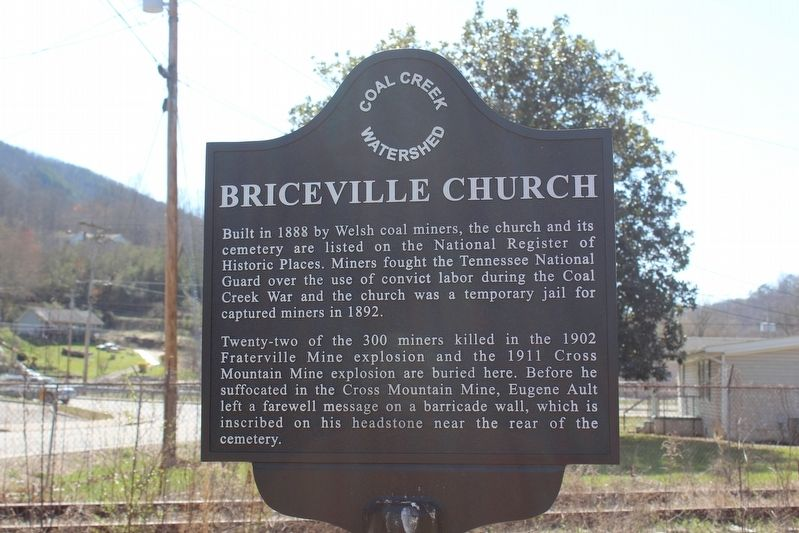 Briceville Church Marker image. Click for full size.