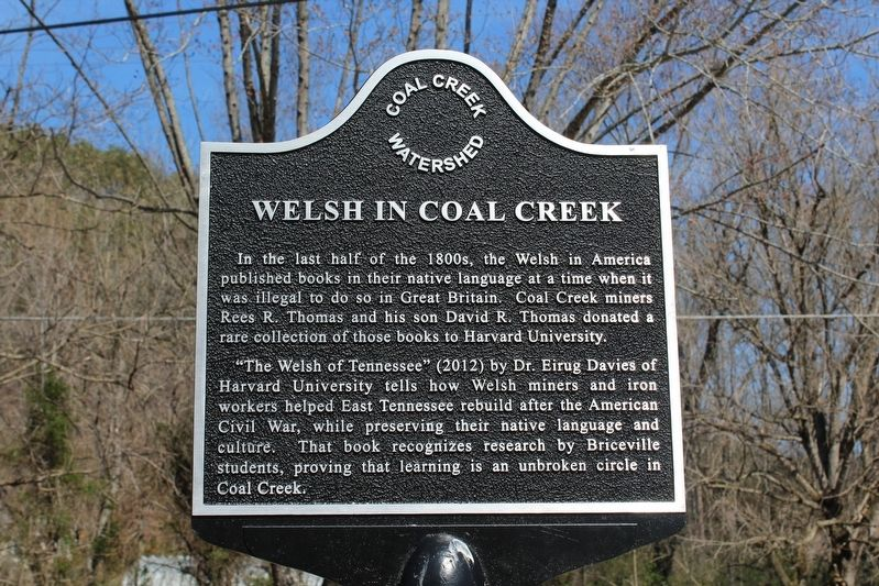 Welsh in Coal Creek Marker image. Click for full size.