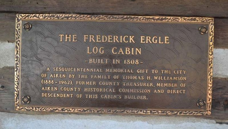 Frederick Ergle Log Cabin Marker image. Click for full size.