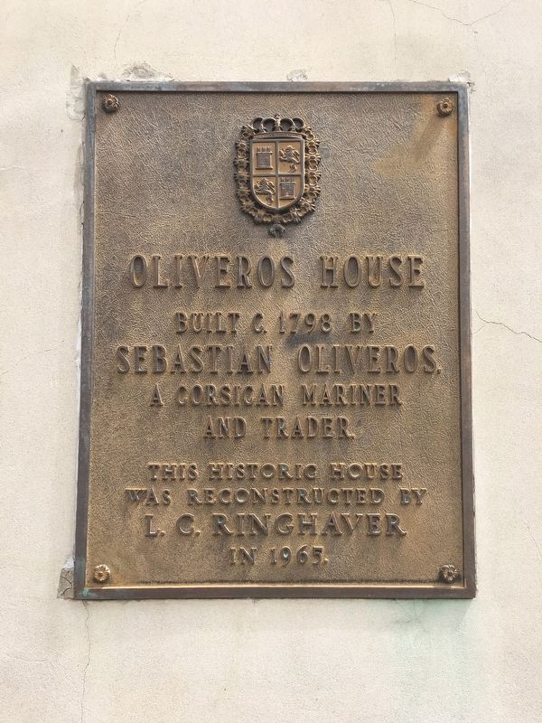 Oliveros House Marker image. Click for full size.