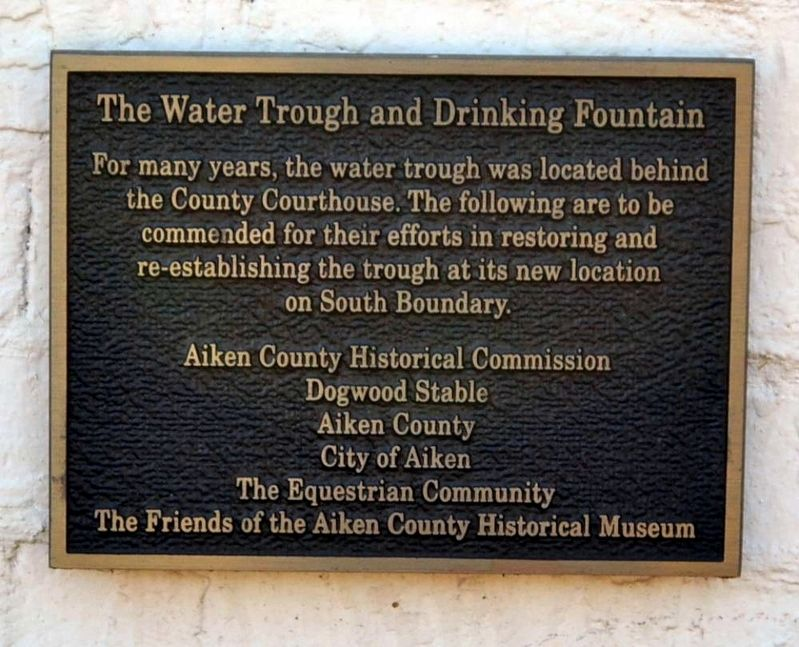 Water Trough and Drinking Fountain Marker image. Click for full size.