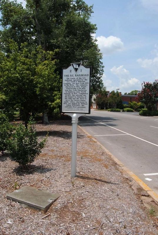 The S.C. Railroad Marker<br>Front image. Click for full size.
