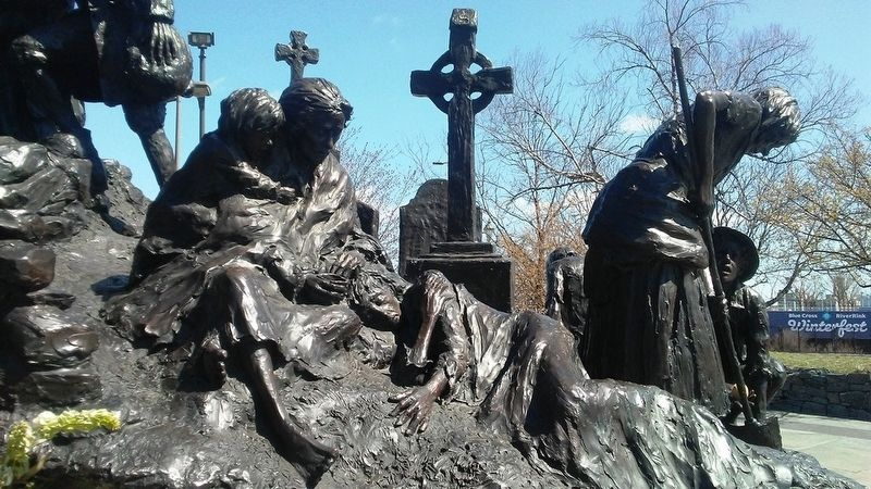 Famine Detail on The Irish Memorial Sculpture image. Click for full size.