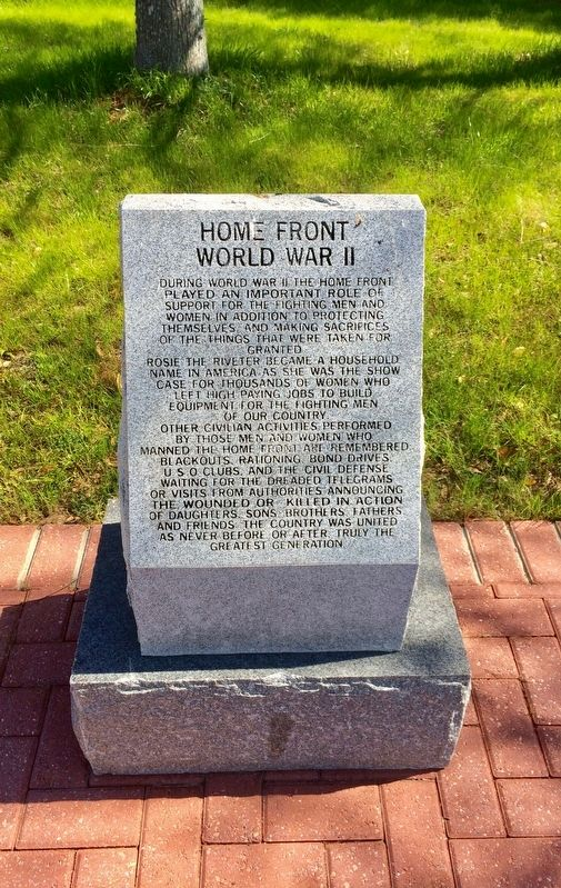 Home Front World War II Marker image. Click for full size.