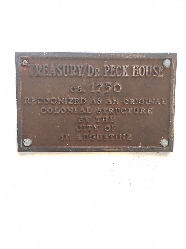 TREASURY/Dr. Peck House Marker image. Click for full size.