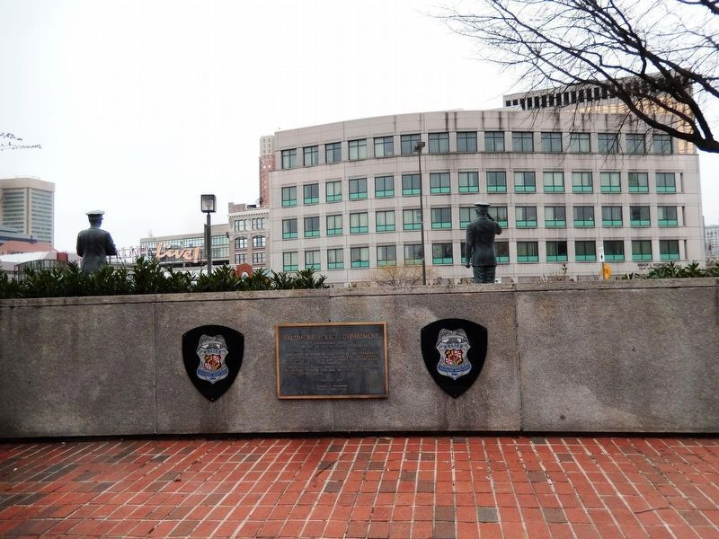 Baltimore Police Department Marker image. Click for full size.