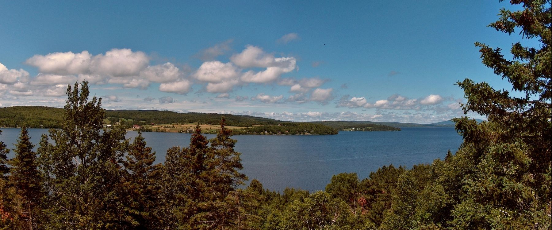 Lake Megantic View from the marker image. Click for full size.