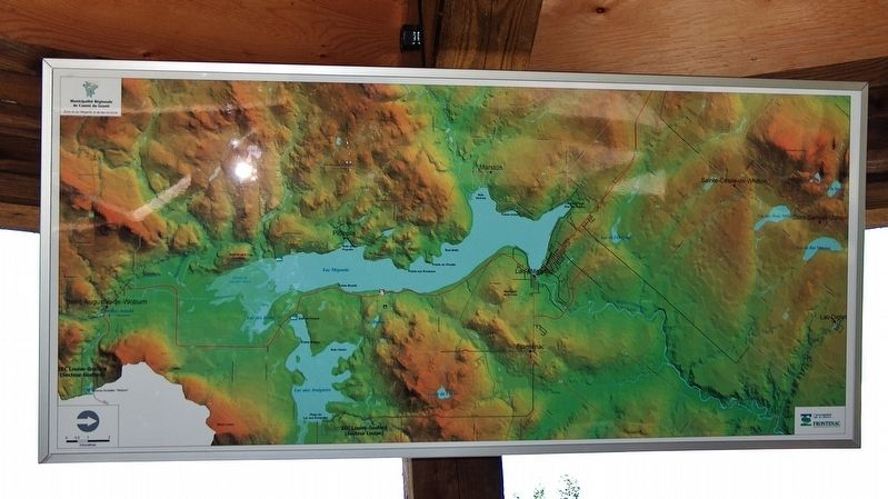 Lake Megantic & Frontenac Map (<b><i>located next to marker</b></i>) image. Click for full size.