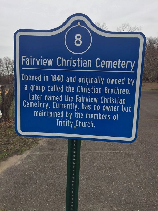 Fairview Christian Cemetery Marker image. Click for full size.