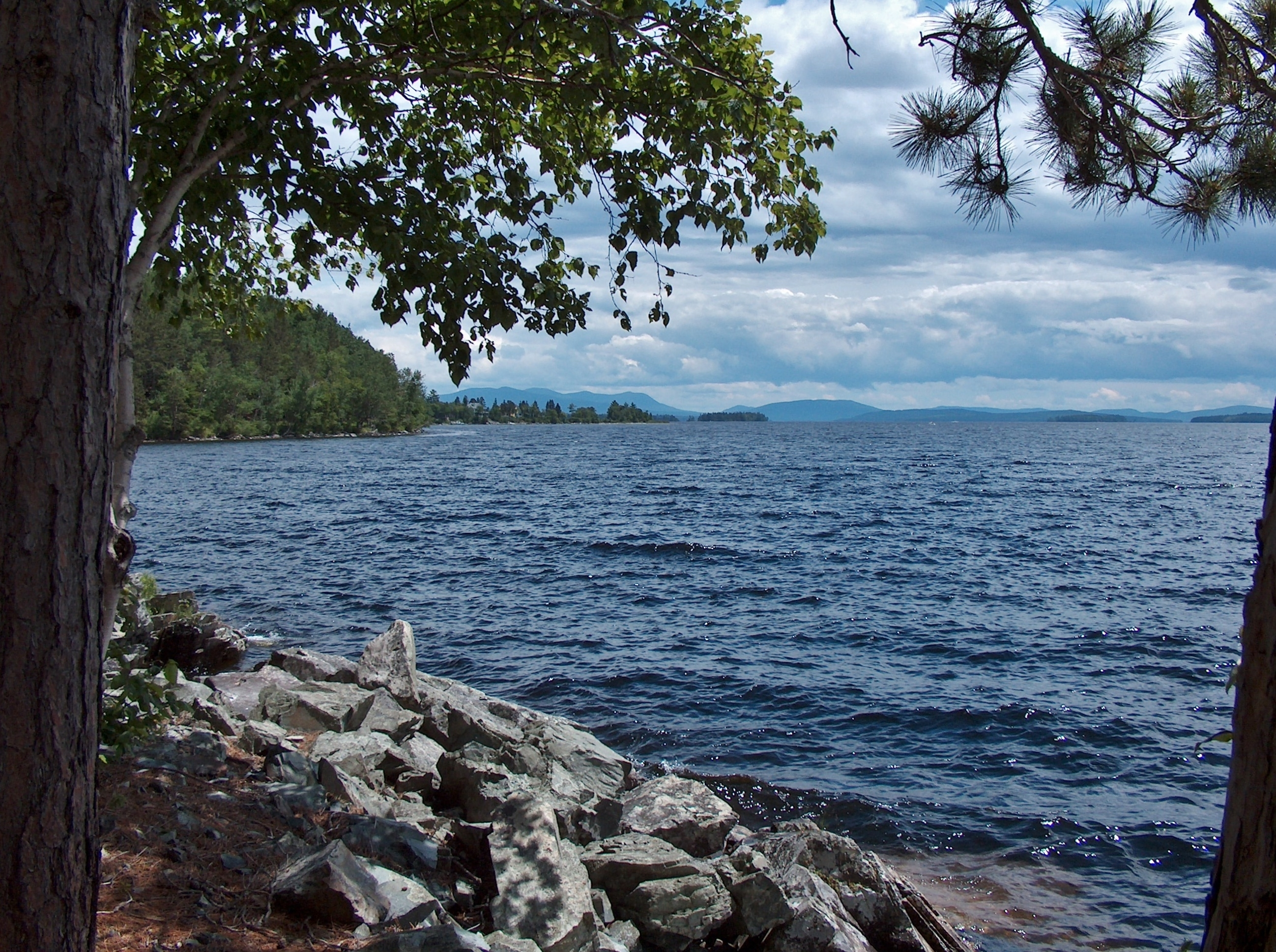 Moosehead Lake view from base of Mount Kineo