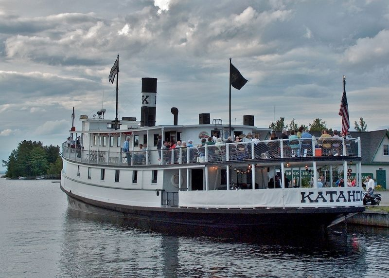 Steamship Katahdin tour boat docked at the Moosehead Marine Museum image. Click for full size.
