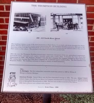 The Thompson Building Marker image. Click for full size.