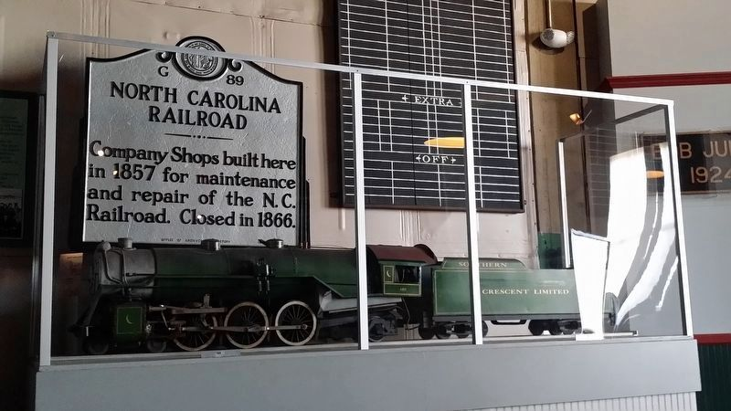 North Carolina Railroad Marker image. Click for full size.