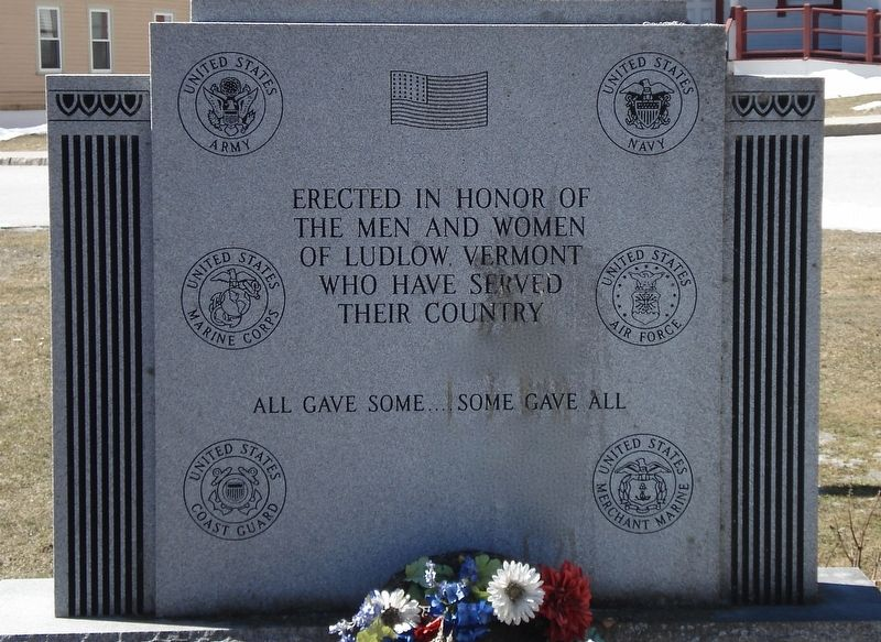 Veteran's Memorial Marker (front) image. Click for full size.