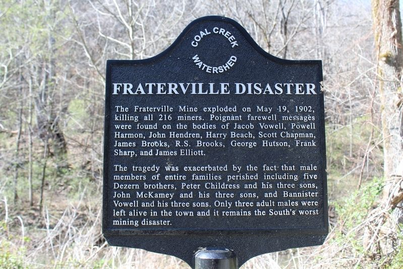 Fraterville Disaster Marker image. Click for full size.
