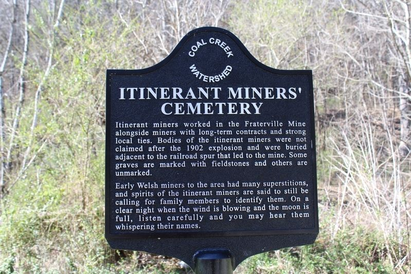 Itinerant Miners' Cemetery Marker image. Click for full size.