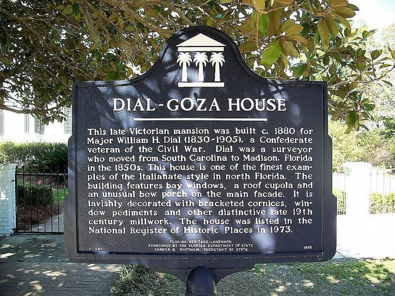 Dial-Goza House Marker image. Click for full size.