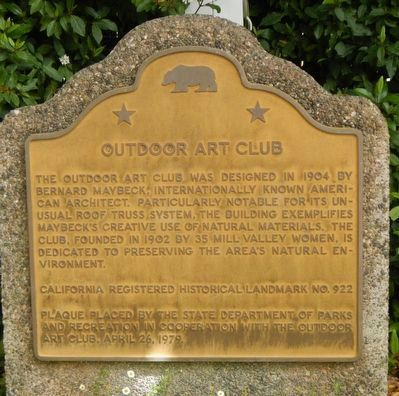Outdoor Art Club Marker image. Click for full size.