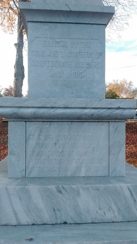 Confederate Monument (back) image. Click for full size.
