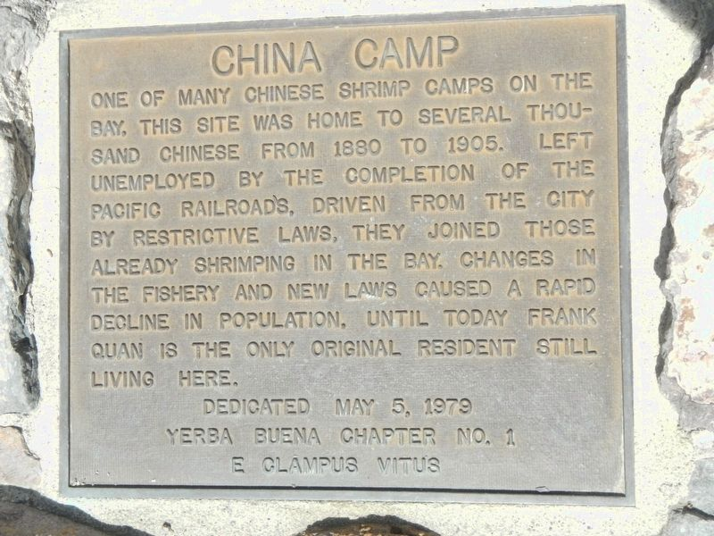 China Camp Marker image. Click for full size.