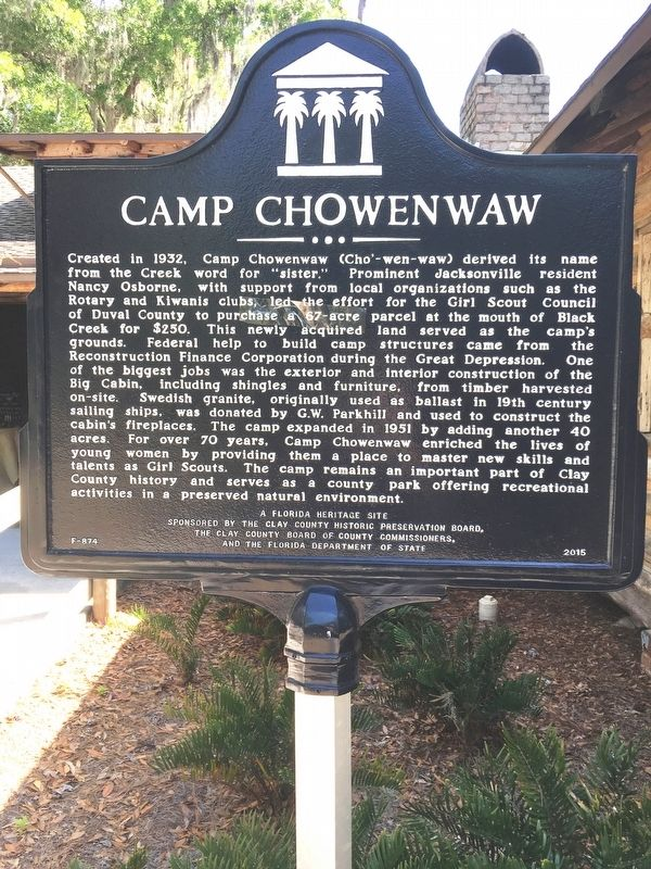 Camp Chowenwaw Marker image. Click for full size.