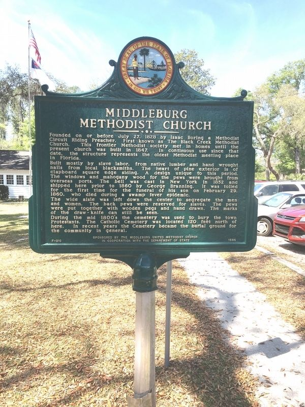 Middleburg Methodist Church Marker image. Click for full size.