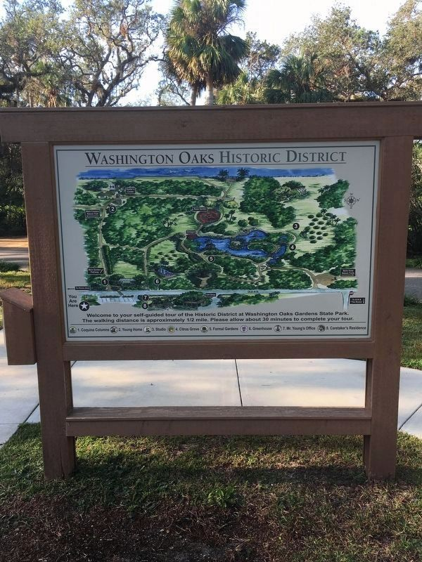 Washington Oaks Historic District map image. Click for full size.
