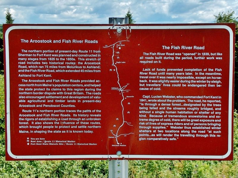 Aroostook and Fish River Roads Marker image. Click for full size.