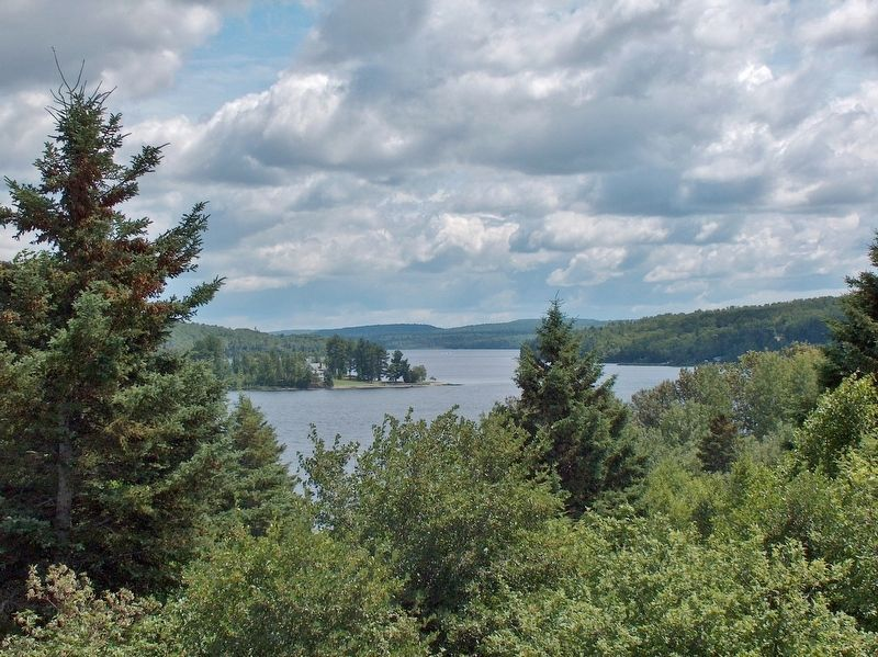 View of Saint Froid Lake, looking north from the marker. image. Click for full size.