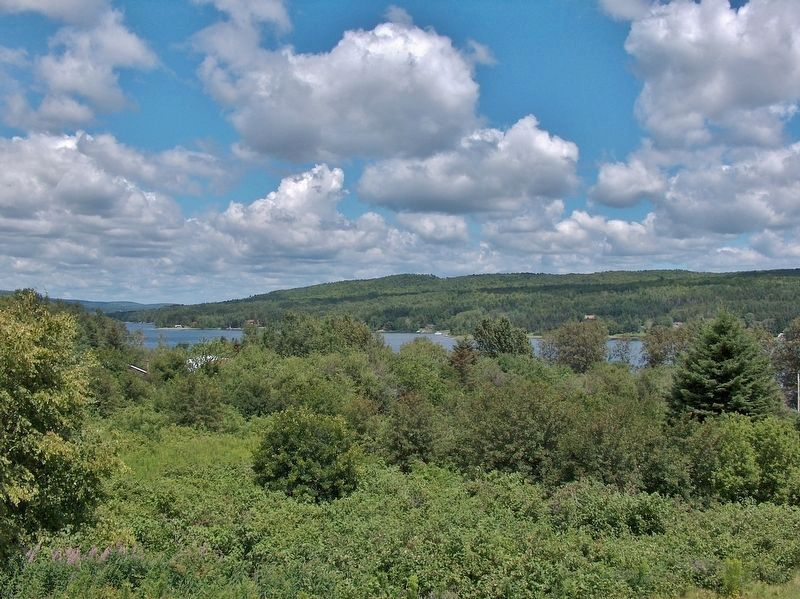 View of Saint Froid Lake, looking south from the marker. image. Click for full size.