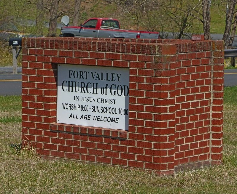 Fort Valley Church of God in Christ Jesus Sign image. Click for full size.