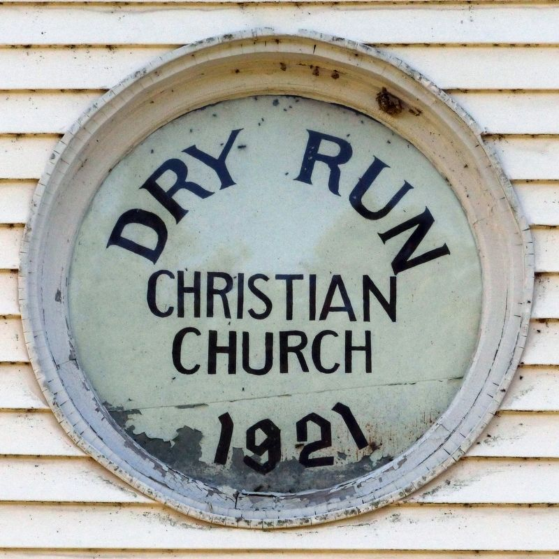 Dry Run Christian Church, 1921 image. Click for full size.