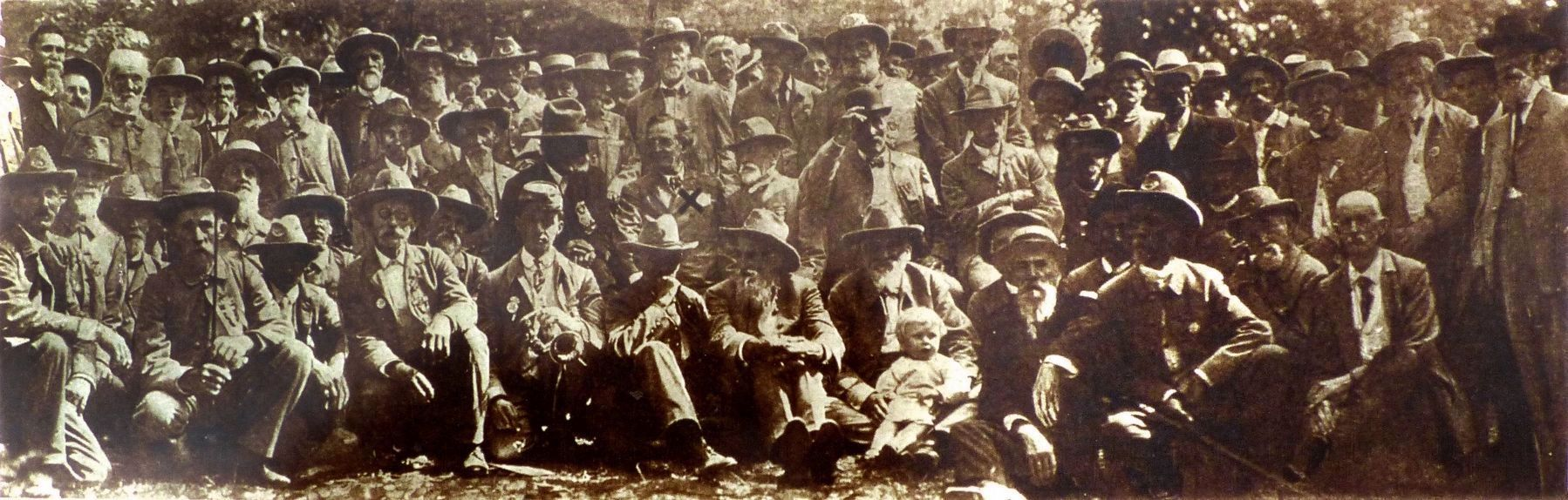 Some Distinguished Confederate Veterans who Attended the Reunion image. Click for full size.