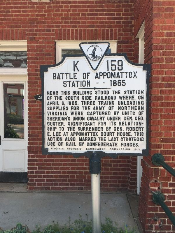 Battle of Appomattox Station — 1865 Marker image. Click for full size.