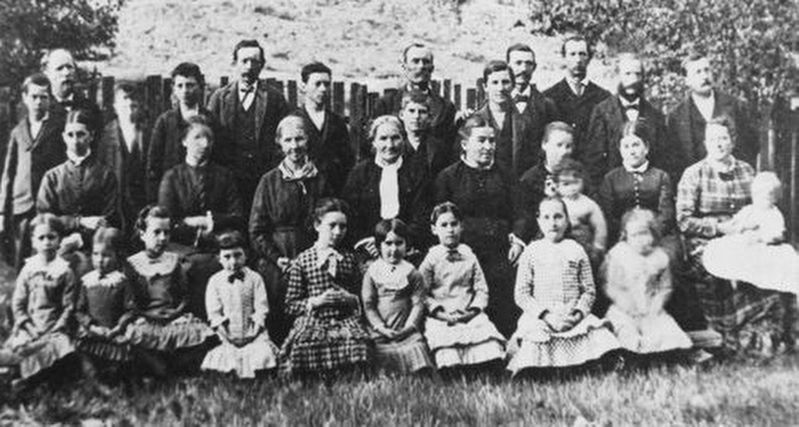 Members of the Icarian utopian community settled in Cloverdale in the 1880s. image. Click for full size.