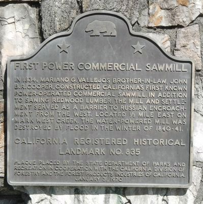 First Power Commercial Sawmill Marker image. Click for full size.