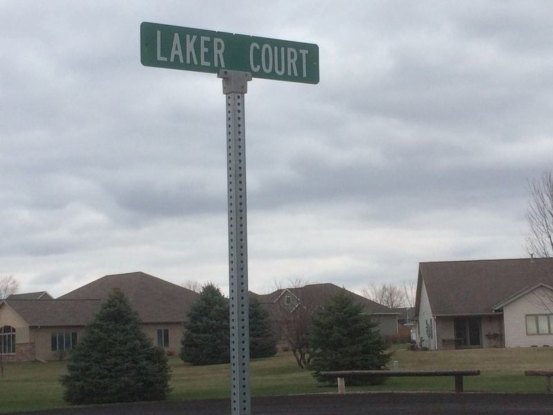 Laker Court Street Sign image. Click for full size.