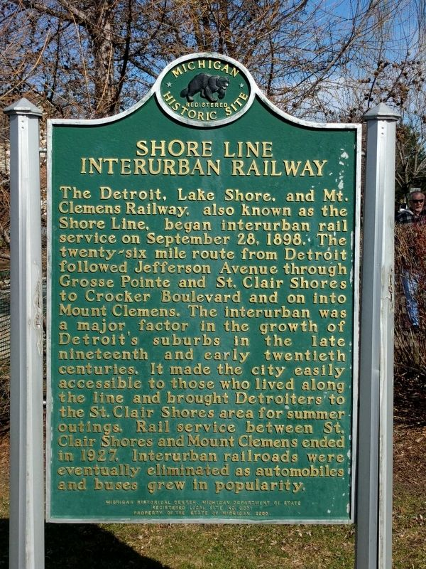 Shore Line Interurban Railway Marker image. Click for full size.
