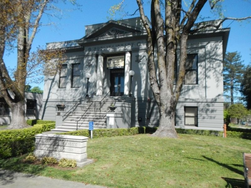 Healdsburg Carnegie Library image. Click for full size.