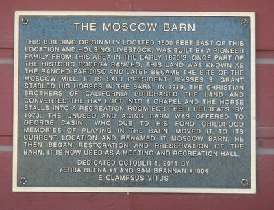 The Moscow Barn Marker image. Click for full size.