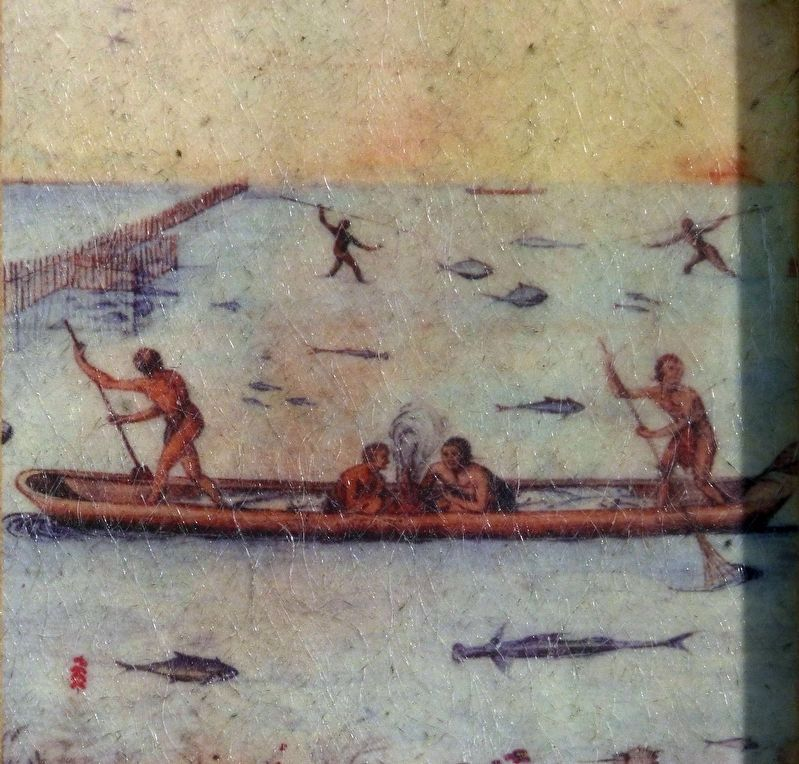 Fishing from a Dugout Canoe image. Click for full size.