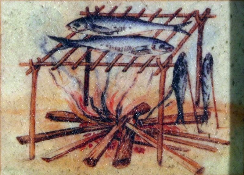 Broiling Fish image. Click for full size.