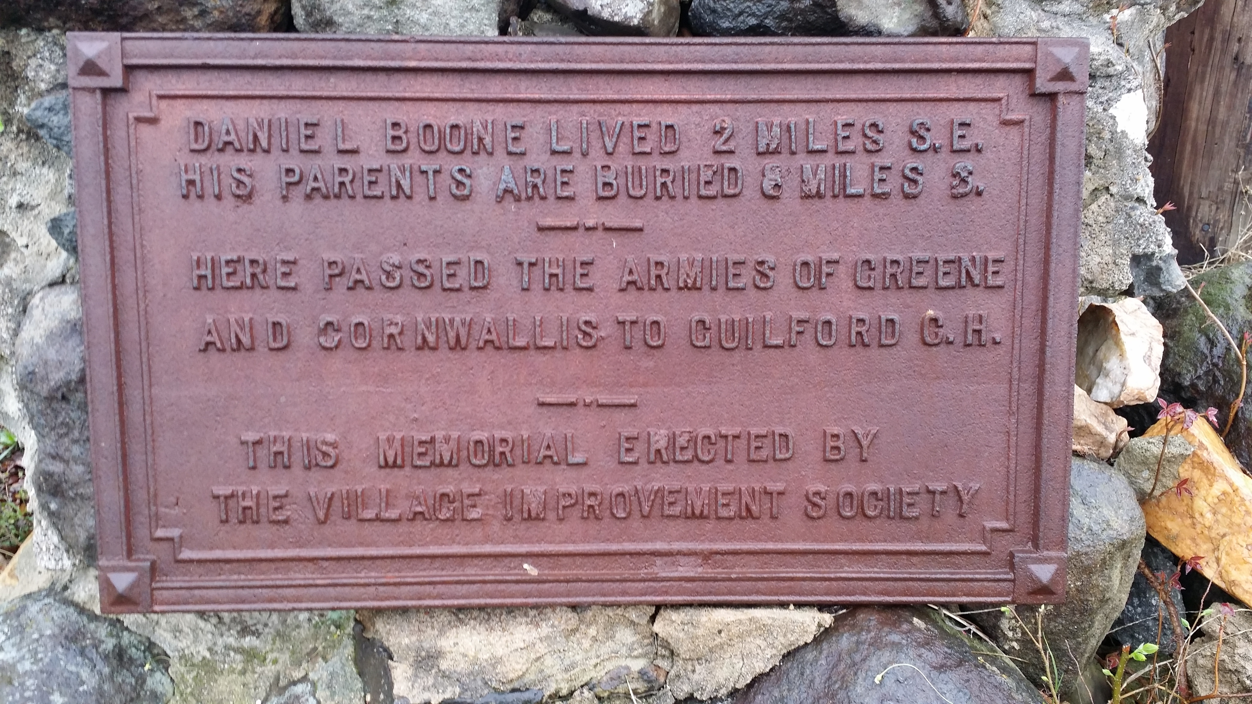 Daniel Boone / Greene and Cornwalis Marker